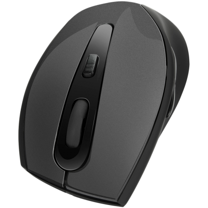 Speedlink AXON Silent & Antibacterial Mouse - USB, 5-button, Antibacterial coating, Silent main buttons,Ergonomic, resolution of up to 2400dpi, rubber, Cable:1.5m,black